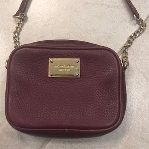 Michael Kors Burgundy Crossbody purse